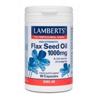 ACEITE DE SEMILLAS DE LINO 1000 mg. 90 Cápsulas (LAMBERTS)