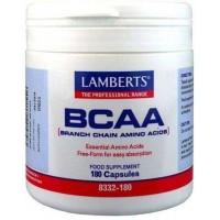 BCAA aminoacidos ramificados 180 Cápsulas (LAMBERTS)