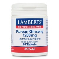 GINSENG COREANO 1200 mg. 60 Comprimidos (LAMBERTS)