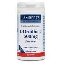 L-ORNITINA HCl 500 mg. 60 Cápsulas (LAMBERTS)