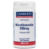 NICOTINAMIDA 250 mg. 100 Comprimidos (LAMBERTS)