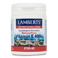 VITAMINA E NATURAL 400 UI  (LAMBERTS)