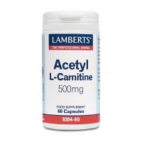L-ACETIL CARNITINA 60 Cápsulas (LAMBERTS)