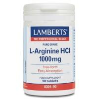 L-ARGININA 1000 mg. 90 Comprimidos (LAMBERTS)