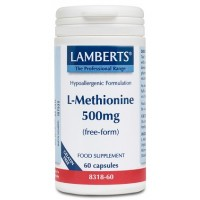 L-METIONINA 500 mg. 60 Cápsulas (LAMBERTS)