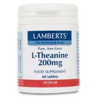 L-TEANINA 200 mg. 60 Comprimidos (LAMBERTS)