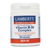 VITAMINA B-50 complex 60 Comprimidos (LAMBERTS)