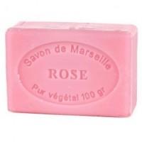 JABÓN NATURAL DE MARSELLA CON ROSA (100 GRAMOS)